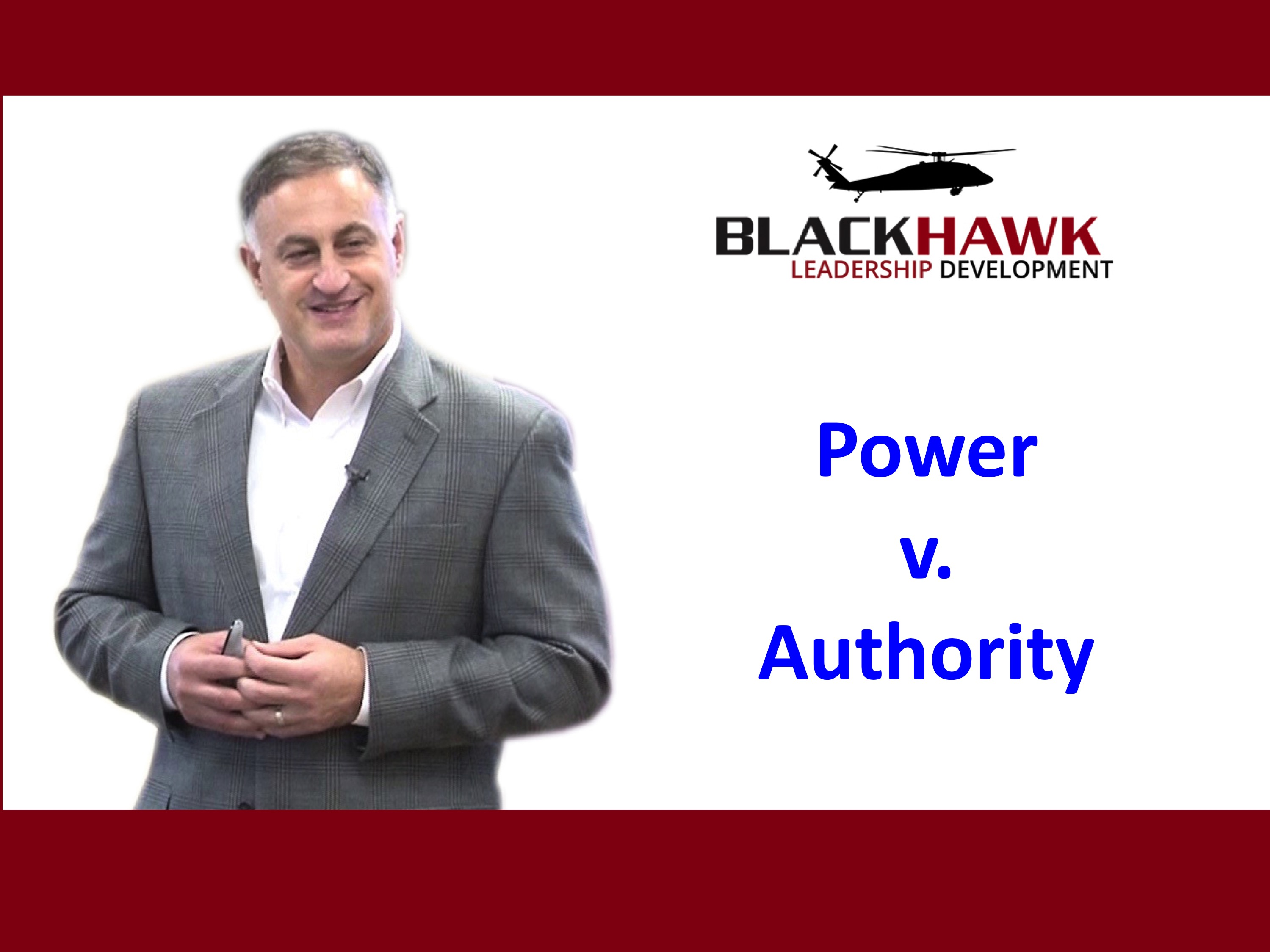 Power and Authority: What's it Got to do with Leadership?